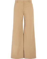 Burberry Cotton Blend Twill Pants Camel