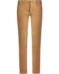 Tomas Maier Mid Rise Slim Leg Stretch Cotton Trousers