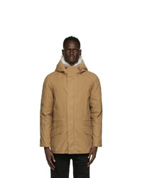 Yves Salomon Army Brown Down And Fur Jacket