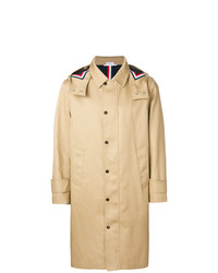 Thom Browne Detachable Hood Snap Front Parka In Mackintosh