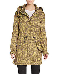 Maison Scotch Printed Hooded Parka Jacket