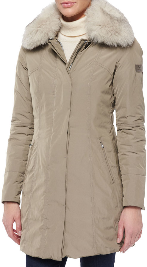 new arrival ebf50 28640 $1,285, Peuterey Metropolitan Fitted Fur Collar Parka