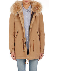 Mr Mrs Italy Canvas Fur Trimmed Parka