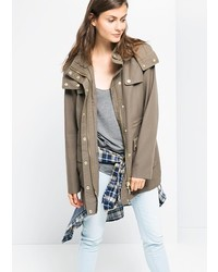 Mango Outlet Outlet Military Style Soft Parka