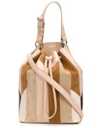 Derek lam 10 crosby patchwork prince bucket crossbody bag medium 621269