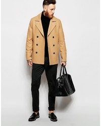 Asos Brand Wool Peacoat In Camel | Where to buy & how to wear