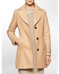 Women's Tan Pea Coats by Calvin Klein | Women's Fashion