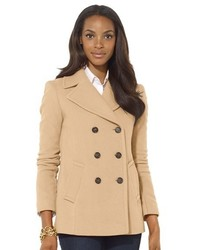Double breasted wool blend peacoat medium 368477
