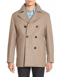 Michl kors wool blend double breasted peacoat medium 373175