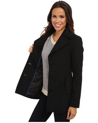 Calvin Klein Single Breasted Wool Blend Peacoat Cw387007 | Where ...