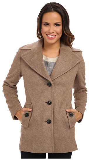 Calvin Klein Single Breasted Wool Blend Peacoat Cw387007 | Where ...