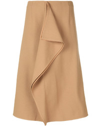 Marni Asymmetric Frill Pencil Skirt