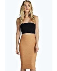 Boohoo Mya Body Form Bandage Midi Skirt