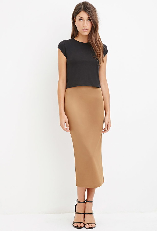 316a522a8 Forever 21 Contemporary Ribbed Pencil Skirt, $12 | Forever 21 ...