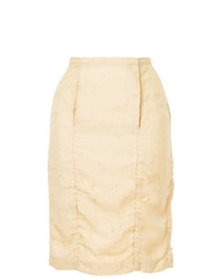 Uma Wang Midi Straight Skirt