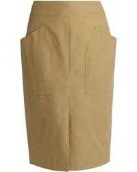 Isabel Marant Stanton Patch Pocket Cotton Blend Skirt