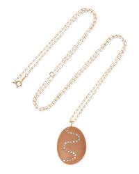 Cvc Stones Tasty 18 Karat Gold Stone And Diamond Necklace