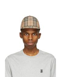 Burberry Beige Vintage Check Cap