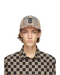 Burberry Beige Vintage Check Tb Baseball Cap