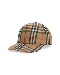Burberry Check Logo Baseball Cap