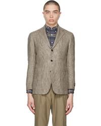 Ring Jacket Brown E Thomas Edition Wool Check Blazer