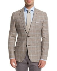 Jayden plaid two button sport coat tan medium 702233