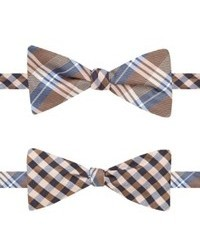 Countess Mara Fall Plaid Gingham Reversible Bow Tie