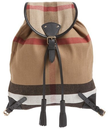 a205709d76dd ... Burberry Chiltern Check Print Canvas Backpack ...