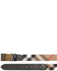 Burberry 35mm House Check Canvas Leather Belt
