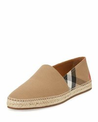 Burberry Pateman Canvas Check Espadrille Classic Check