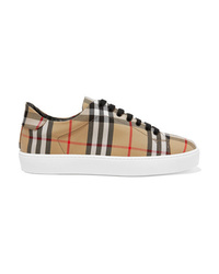 Burberry Checked Canvas Sneakers