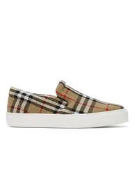 Burberry Beige Thompson Slip On Sneakers