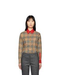 Burberry Beige Vintage Check Carlota Shirt