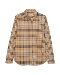 Burberry Checked Cotton Poplin Shirt