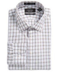 Nordstrom Shop Smartcare Extra Trim Fit Plaid Dress Shirt