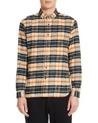Bradford plaid flannel sport shirt medium 5208338