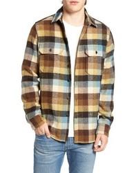 Buffalo plaid wool blend flannel shirt medium 1150344