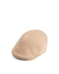 Kangol Hats Kangol Houndstooth 507 Flat Cap Tan
