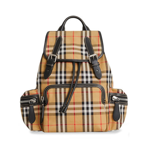... Burberry The Medium Rucksack In Vintage Check And Leather ... 96b1ed5e3d46b