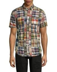 Plaid casual button down shirt medium 4396180