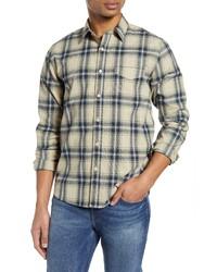 Frame Slim Fit Plaid Button Up Shirt