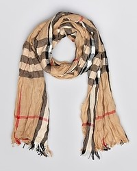 Burberry London Giant Check Crinkled Scarf