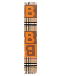 Burberry Giant Check Wool Cashmere Scarf