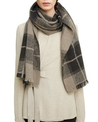 Rick Owens Plaid Wool Cashmere Blend Scarf