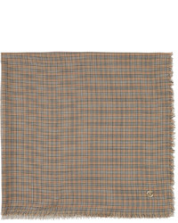 Burberry Silk Wool Lightweight Check Scarf