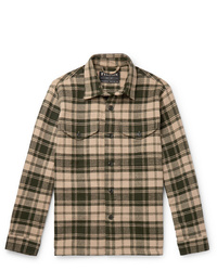 Tan Plaid Shirt Jacket