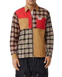 Burberry Halkin Colorblock Zip Shirt Jacket