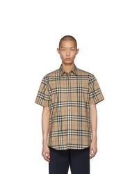 Burberry Beige Check Caxton Shirt