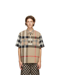 Burberry Beige Check Durham Shirt