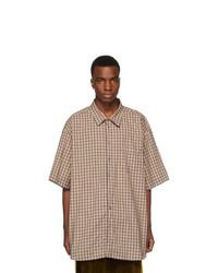 Gucci Blue Oversized Check Shirt